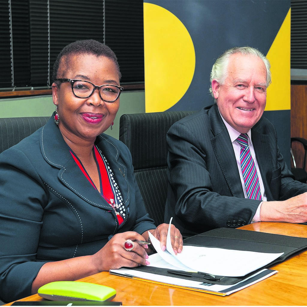 From left are Nelson Mandela University vice-chancellor, Prof Sibongile Muthwa, and Donald Woods Foundation chairperson, Lord Peter Hain.             Photo:SUPPLIED