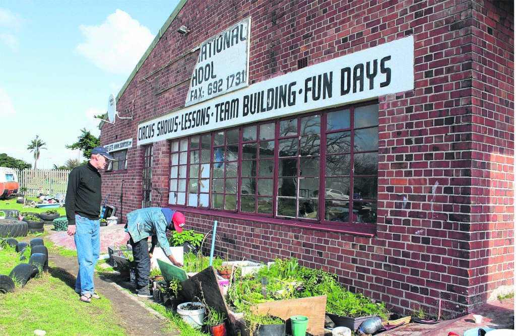 Occupants of the land where the former South African National Circus School in Observatory used to be maintain the vegetable garden that they have planted.PHOTO: Nomzamo Yuku