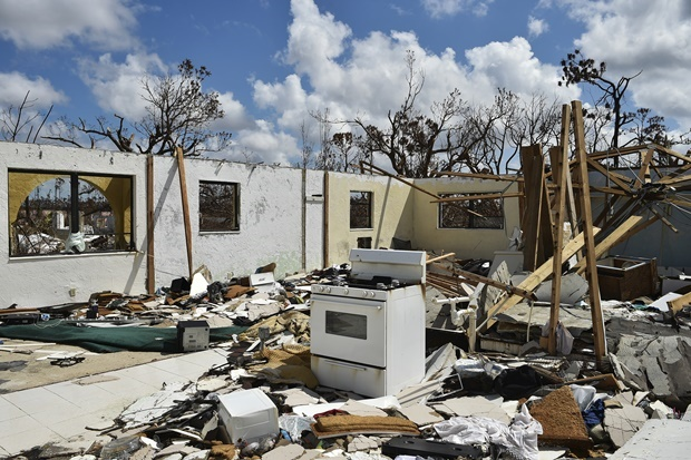 A destroyed home is seen at Freeport on Grand Bahama island. (Leila Macor, AFP)