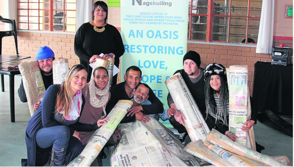 At the back are Paul Breytenbach and Patricia Abrahams. In front are Liza Ortell (Elim housemother), Shanaaz Karan, Irfaan Saban, Anthony Maroon, David White and Rosetta Stuurman.PHOTO: TARRYN-LEIGH SOLOMONS