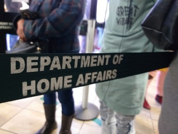 Queuing at the Department of Home Affairs. (Naseema Barday, News24)