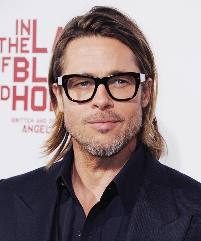 HOLLYWOOD, CA - DECEMBER 08: Actor Brad Pitt arri