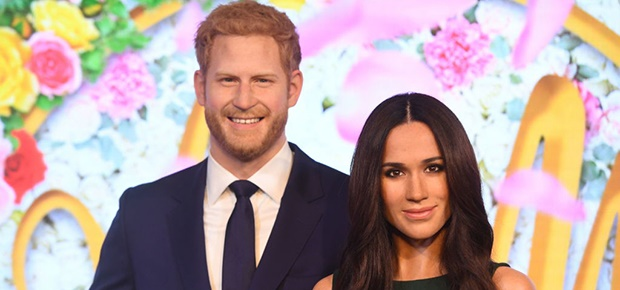 Meghan Markle's wax figure is unveiled alongside Prince Harry's at Madame Tussauds (Photo: Getty Images)