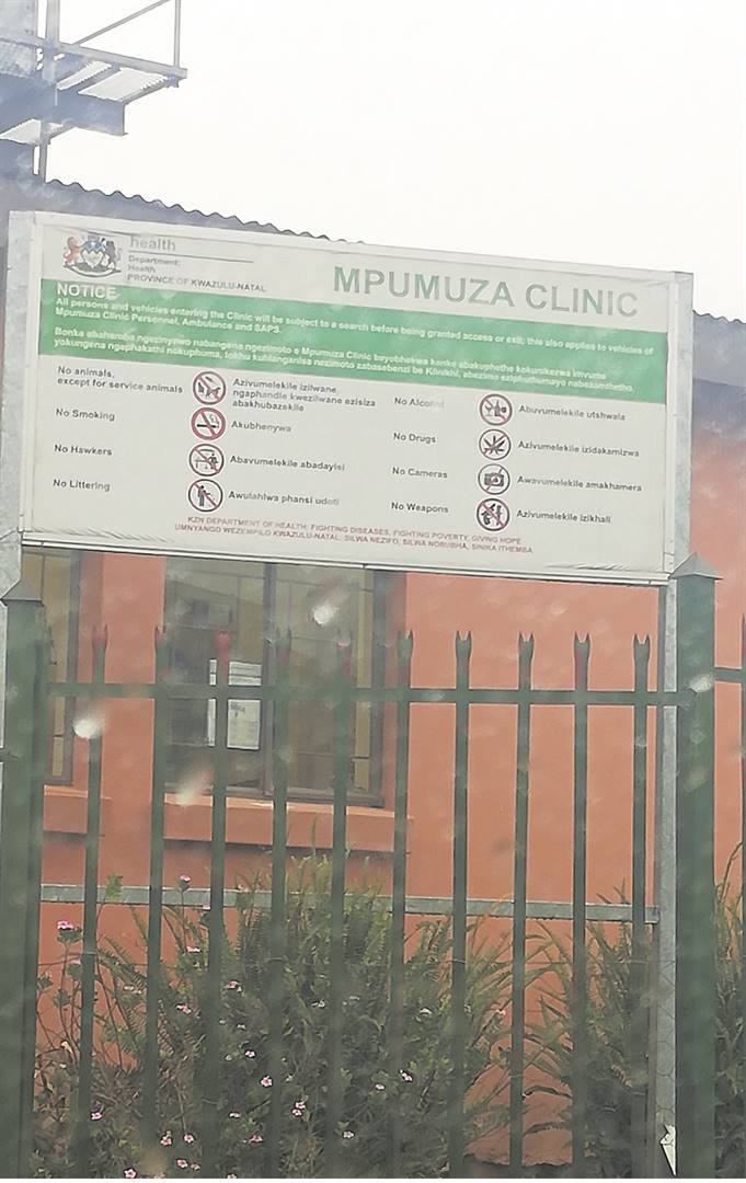 PHOTO: lethiwe makhanyaMpumuza Clinic, where the armed robbery happened.