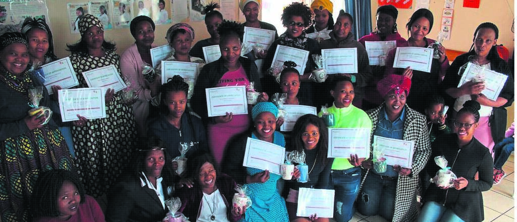 Women that work at Sibongile Day & Night Care Centre were celebrated on Woman's Day.PHOTO: SIYABONGA KALIPA