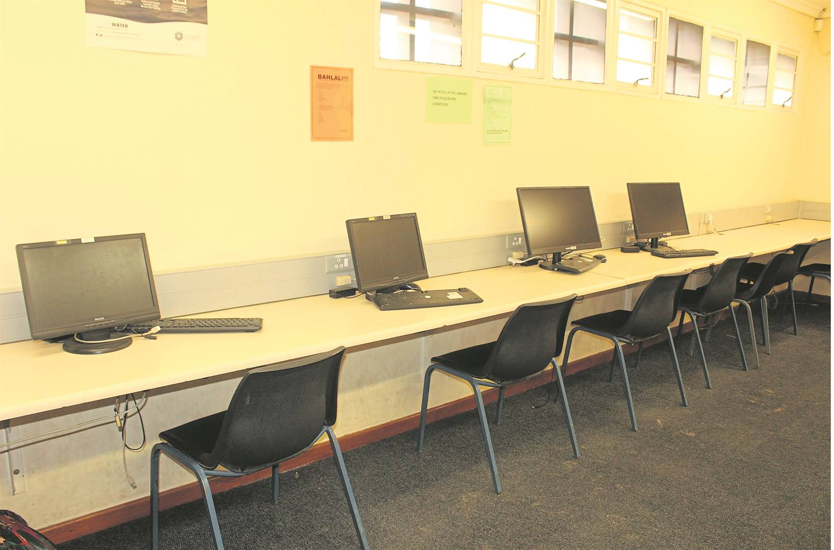 Computers at the Hector Petersen Library in Lwandle have been off almost a year.PHOTO: velani ludidi