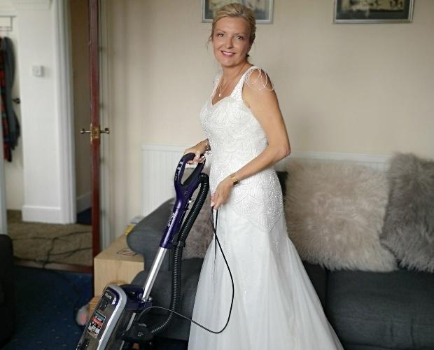 Dawn Winfield-Hunt in her wedding dress. (Photo: C