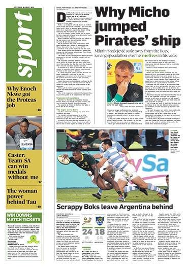 City Press Sport, August 18 2019