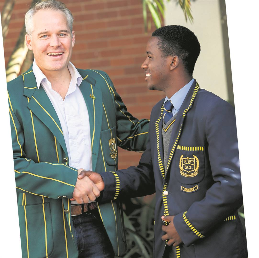 Our first XI captain, Wessly Madhevere, was recently invited to the Cricket South Africa awards banquet. Following on from his team's performance at the National Schools T20 campaign, Wessly was awarded the Schools T20 Player of the Year trophy. Wessly is seen here with Mornè van Wyk.PHOTO: supplied