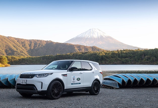 Land rover and mount fuji