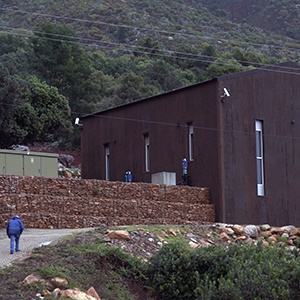 The hydropower plant stands among the trees on the mountainside of the estate in Franschhoek. (Screengrab)