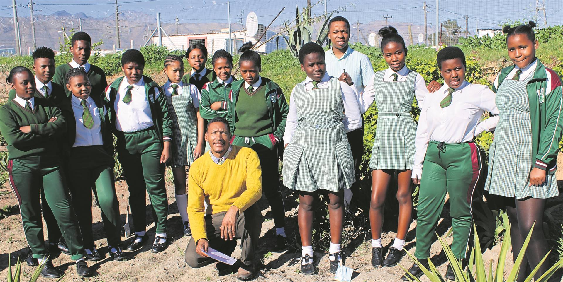 Grade 10 learners of Nomzamo High School with their teachers. They have established an eco club in a bid to learn more about the environment.PHOTOs: MZWANELE MKALIPI