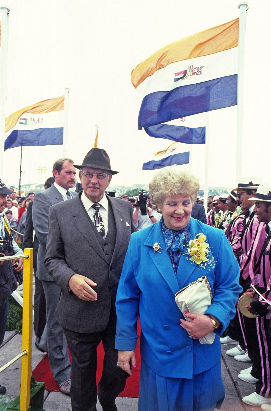 7 October 1978. South African Prime Minister B.J.