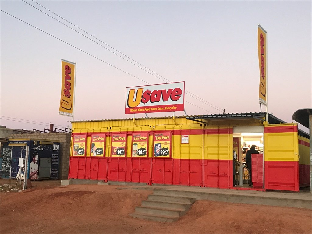 The Usave eKasi container shops.