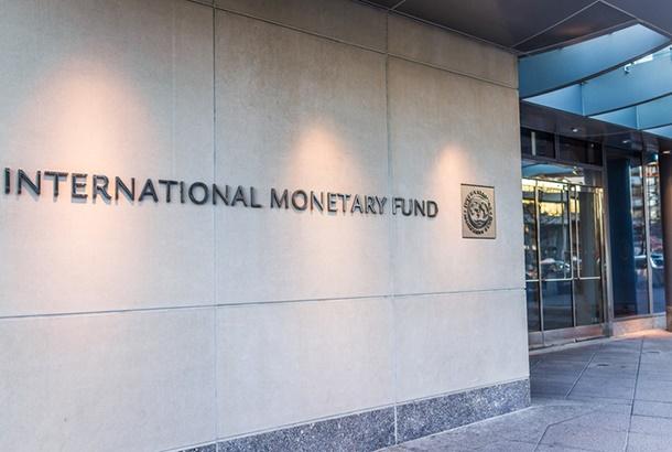 Washington Dc: IMF entrance with sign of Internati
