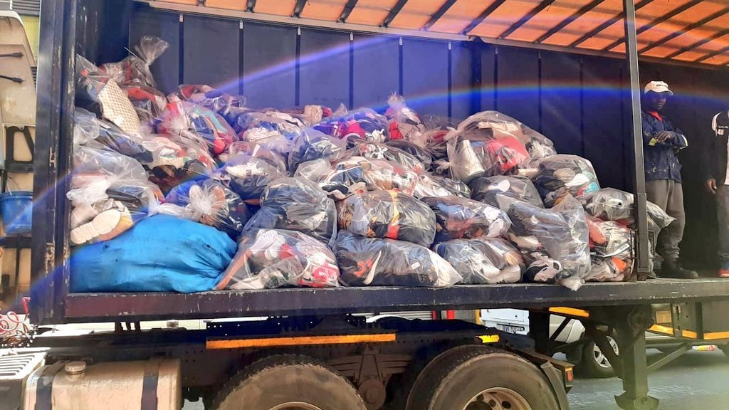 Confiscated counterfeit goods in Johannesburg. (Supplied)