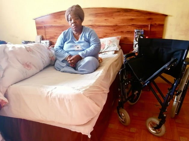 Nomvula Frans wants a house suitable for her disability. (Mkhuseli Sizani/GroundUp)