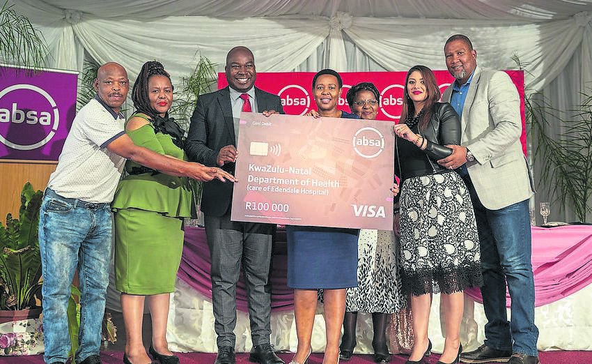 Absa donated wheelchairs, furniture, books and R100 000 to Edendale Hospital as part of its Mandela Day Marathon activities.