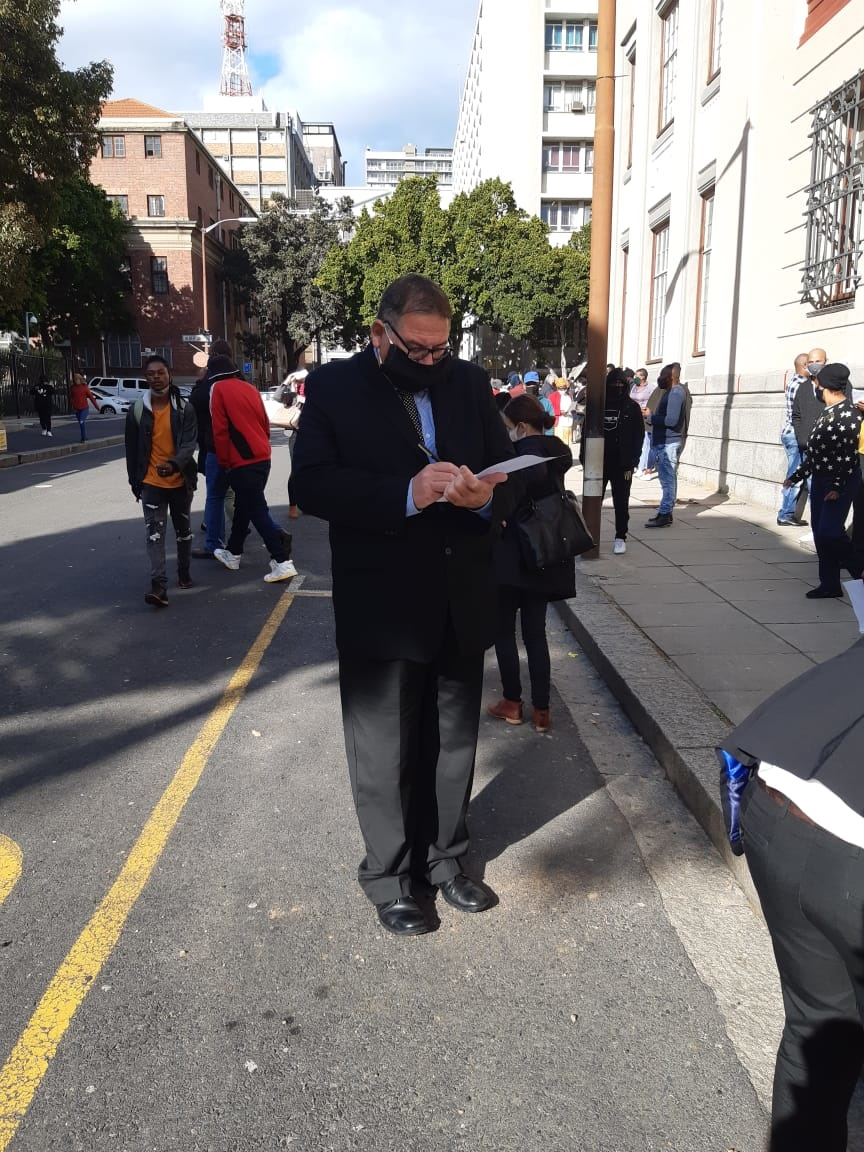Willem Breytenbach outside court in Cape Town