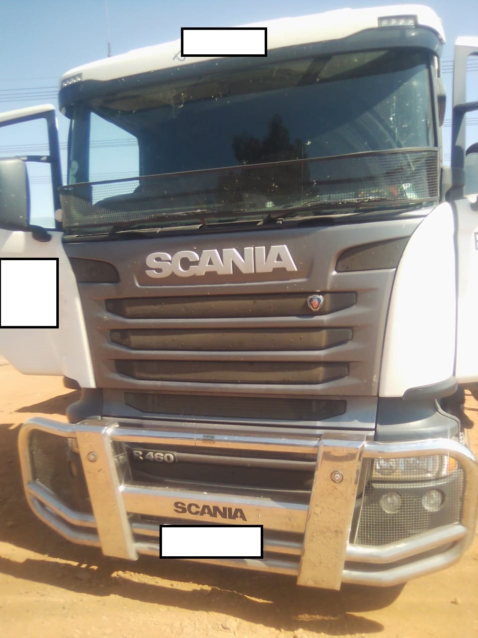 A hijacked truck carrying booze which was later recovered with the loot.