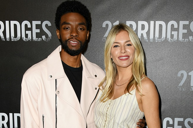 Chadwick Boseman donated part of his salary to cover Sienna Miller's for 21 Bridges - News24