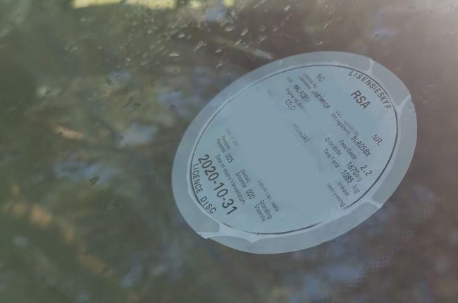 License disc. Image: Wheels24 / Charlen Raymond