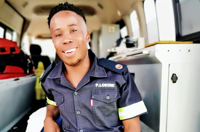 Paballo (23) has a higher certificate in firefighting, ambulance and safety skills from Impact Emergency Technologies. (Photo: Supplied)