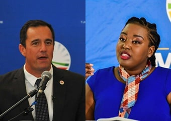 Steenhuisen and Ntuli both want to reach the Union Buildings, but differ on the route