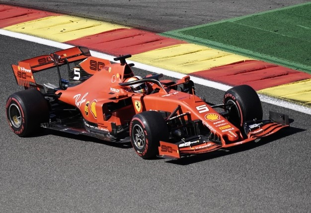 Ferrari driver Sebastian Vettel drives during the first practice session at the Spa-Francorchamps circuit. Image: AFP /  Kenzo Tribouillard