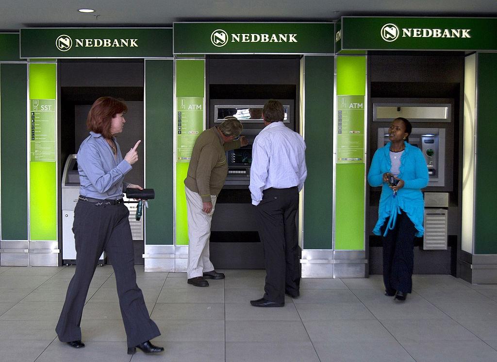Customers use the Nedbank Group Ltd. automatic tel