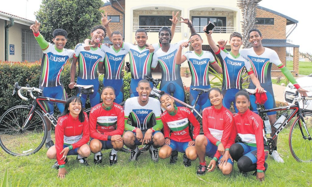 Fairmount Secondary School's cycling team pictured in their new gear. PHOTO: lisa lottering