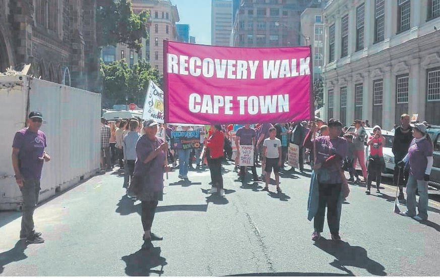 Addicts in recovery celebrate their successes in Cape Town.