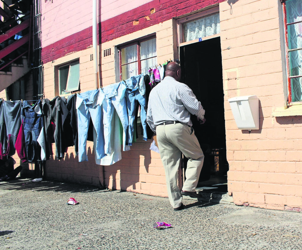Earlier this year mayor Dan Plato visited the home of slain Berenice Noble who was shot and killed as a result of her slain son's gang dealings – just one of many gang-related incidents that have taken place in Lavender Hill. PHOTO: Racine Edwardes