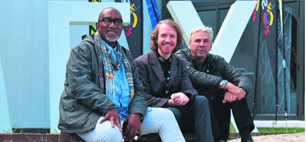 MEX chairperson Sipho Mabuse, Christian Wright of Abbey Road, and MEX convener Martin Meyers.