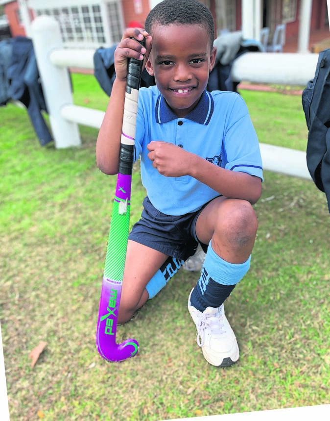 Merchiston Preparatory School boys had lots of fun at the recent Grade 1 and Grade 2 mini hockey festival. S'Thabiso Mvubu, a Grade 1 pupil, was very excited to run onto the field and represent his school.PHOTO: supplied