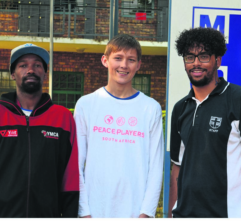 Big congratulations to Maritzburg Christian School pupil Joshua Kilian (centre) who has been selected to be one of 30 candidates to represent the YMCA Pietermaritzburg Official and MCS in the Peace Players South Africa Leadership Development Programme. Pictured with Joshua is Coach Jefferson from YMCA (left) and Dale Trout from MCS (right).The programme spans three-years and each candidate will be meeting once a month for leadership and basketball training in Durban. They will also have the opportunity to become global citizens as well as travel the world, embodying the leadership skills they have learnt through the programme.PHOTO: supplied
