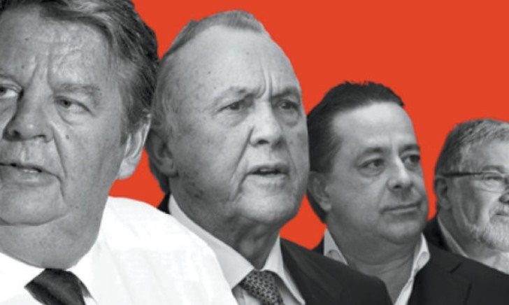 (From left to right) Johann Rupert, Christo Wiese, Markus Jooste and Jannie Mouton are some of the characters in Pieter du Toit's 'Stellenbosch Mafia'. (Jonathan Ball)