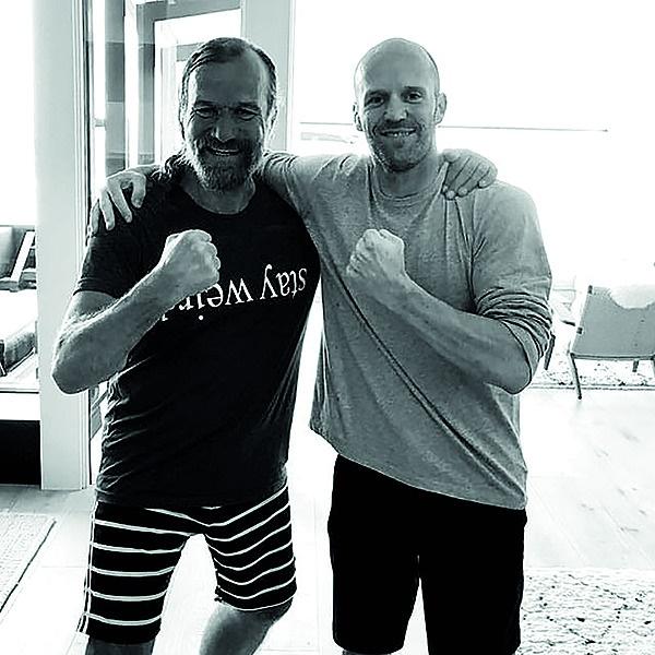 Wim en Jason Statham. Foto: Instagram