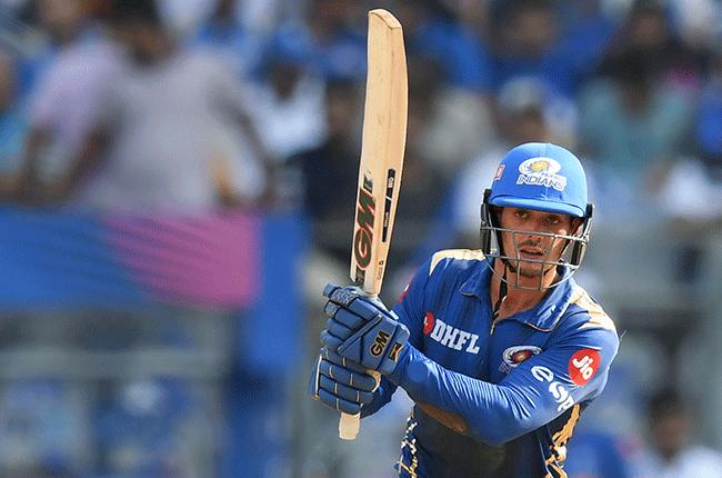 South African batsman Quinton de Kock for the Mumbai Indians (AFP)
