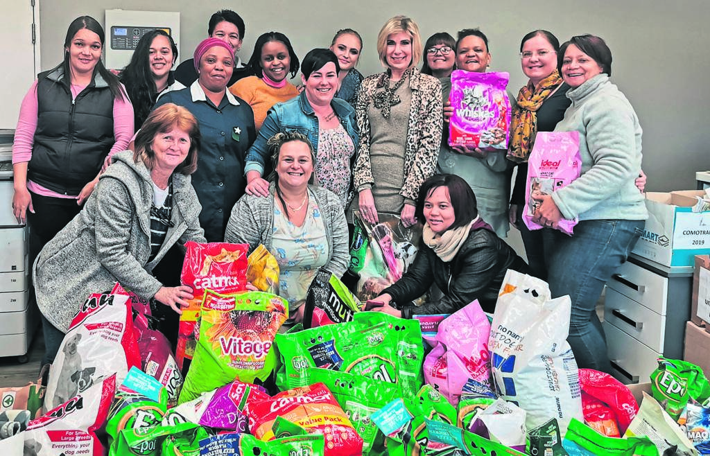 STAFF from Tradekor PE collected loads of non-perishable foods which will be donated to the Uitenhage SPCA. The initiative was headed by Gerda Gerber who has sent out e-mails to her colleagues, pleading to support the SPCA and the response was phenomenal. Tradekor PE will also fill the three water tanks on the SPCA premises with fresh water. Tradekor as well as all the transporters are thanked for their kind donations.                  Photo:SUPPLIED.