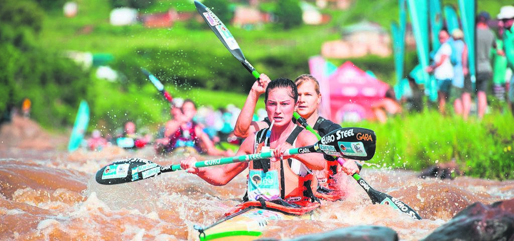 With a Dusi Canoe Marathon title under their belts, Christie Mackenzie and Bridgitte Hartley have confirmed that they have set their sights on the 2019 Hansa Golden Crisp Fish River Canoe Marathon title.Photo:ANTHONY GROTE