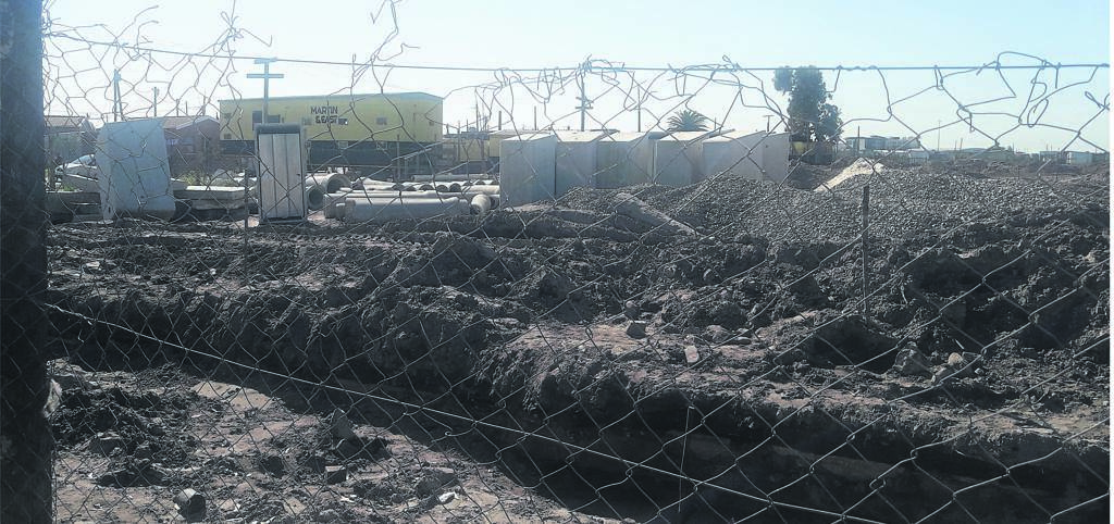 A construction company is busy building infrastructure at the site in Boystown.PHOTO: UNATHI OBOSE