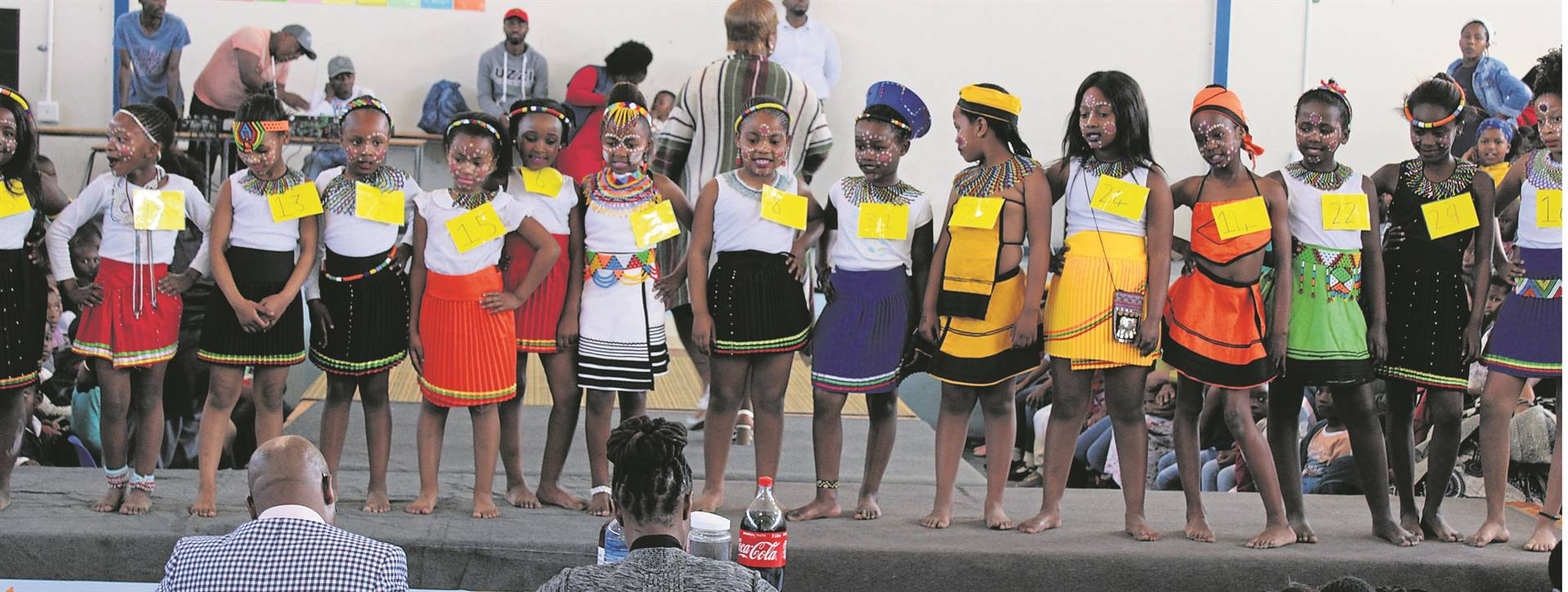 The Mr and Miss Silukhanyo Primary School pageant was held at the school on Friday 23 August. Here foundation phase learners show off their best poses to the judging panel.