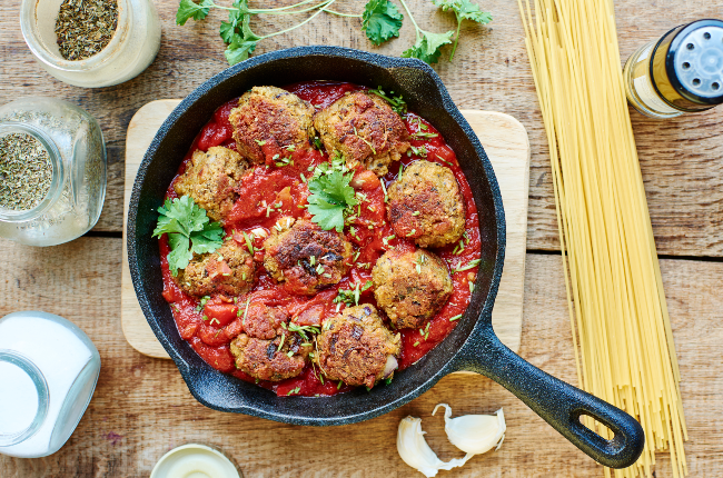 These spicy meatballs are poached in a lentil sauce for a heart-warming meal.