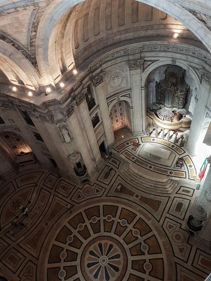 view from above of national pantheon