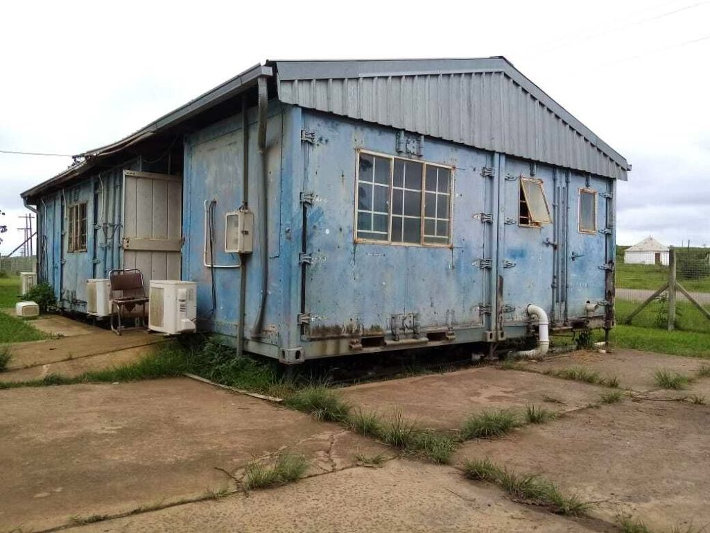 The Mtontsasa Magistrate's Court operates inside a shipping container.