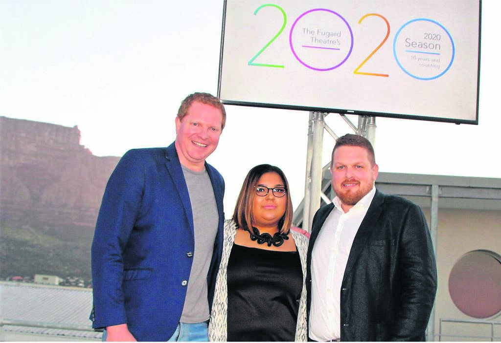Brains behind the story of the nine-year-old The Fugard Theatre, from left are: Daniel Galloway, Lamees Albertus and Greg Karvellas.    PHOTO: Nomzamo Yuku