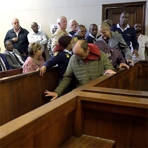 Tharina Human appeared alongside Pieter Jacobus van Zyl and Laetitia Nel in the Vanderbijlpark Magistrate's Court on Monday for the kidnapping Amy'Leigh de Jager. (Sharlene Rood, News24)