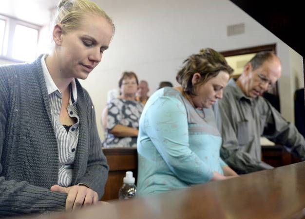Accused kidnappers Piet van Zyl, Laetitia Nel, and Tharina Human are seen in the Vanderbijlpark Magistrate's Court. (Deaan Vivier, Gallo Images, Netwerk24, file)