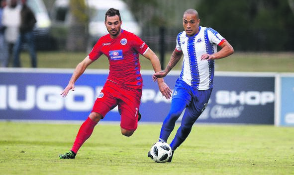 On the ball ... Maritzburg midfielder Miguel Timm.PHOTO: gallo images